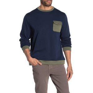 Onia Hudson Colorblock Crew Neck Sweatshirt